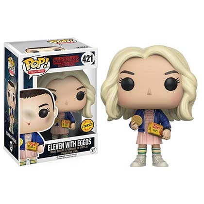 STRANGER THINGS Funko Pop Limited Chase Edition Blonde Eleven Eggo Vinyl Figure