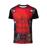 MARVEL COMICS Deadpool Men's Suit Sublimation T-Shirt, Extra Large, Multi-colour