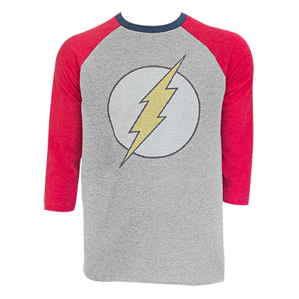 The FLASH Raglan Sleeve Grey Tee Shirt