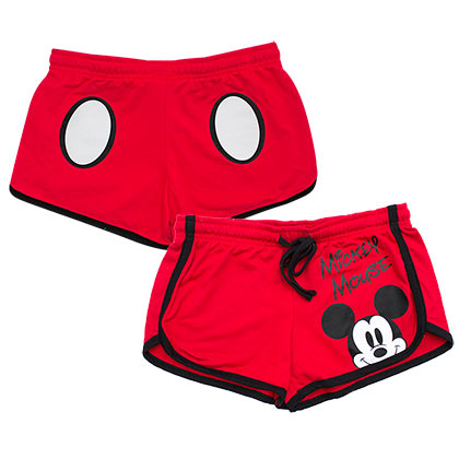Mickey Mouse Women's Red Beach Shorts