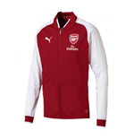 2017-2018 Arsenal Puma Stadium Jacket (Red Dahlia)