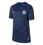 2017-2018 Chelsea Nike Pre-Match Training Shirt (Rush Blue) - Kids