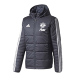 2017-2018 Man Utd Adidas Padded Winter Jacket (Black)