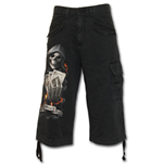 Ace Reaper - Vintage Cargo Shorts 3/4 Long Black