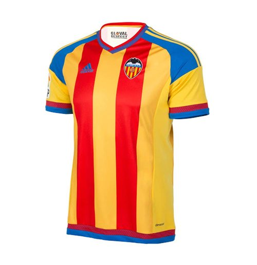 2015-16 Valencia Away Football Shirt