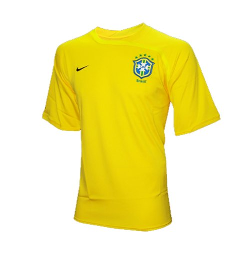 2008-09 Brazil Nike Training Shirt (Yellow)