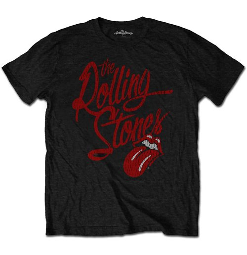 The Rolling Stones Men's Tee: Script Logo (Soft-Hand Inks)