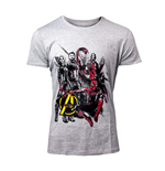 MARVEL COMICS Avengers: Infinity War Men's Characters T-Shirt, Large, Grey
