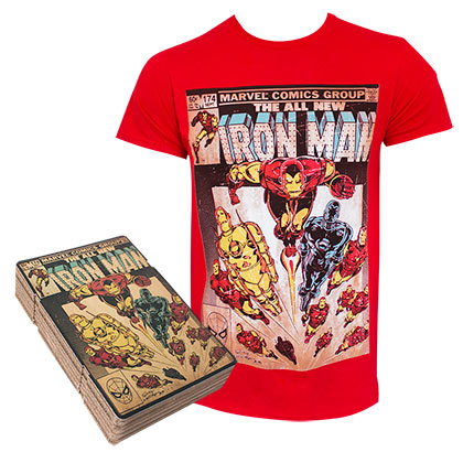 IRON MAN Corrugated Boxed Red Tee Shirt