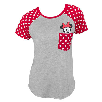 Minnie Mouse Pocket Sized Women's Grey Tee Shirt