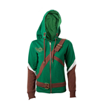 NINTENDO Legend of Zelda Female Link Outfit Full Length Zip Hoodie, Small, Multi-colour