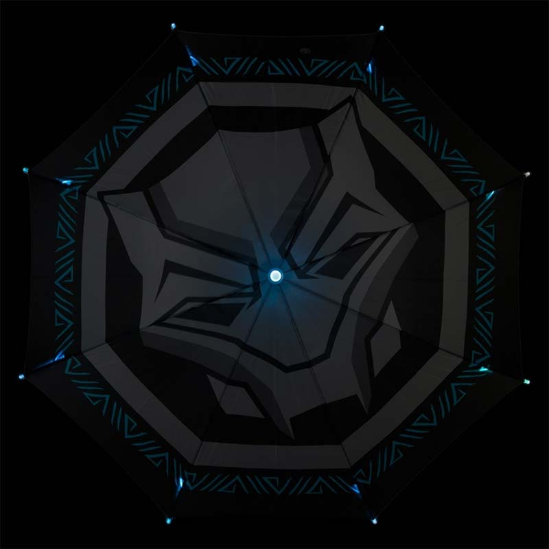 Led Umbrella Features: Buy Official BLACK PANTHER Logo LED Flashlight Umbrella