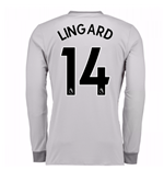 2017-2018 Man United Long Sleeve Third Shirt (Lingard 14) - Kids