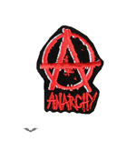 Red anarchy sign patch