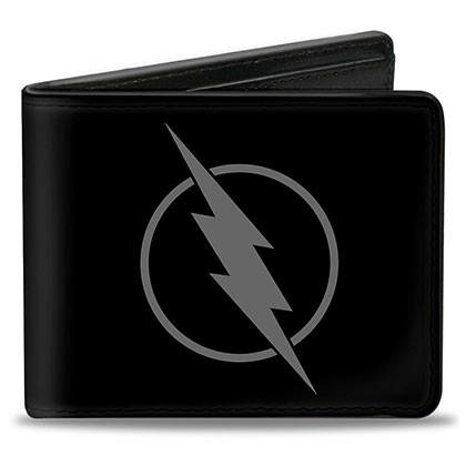 The FLASH Reverse Logo Black Bifold Wallet