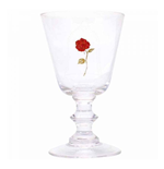 Beauty and the Beast Pint Glass Goblet Rose