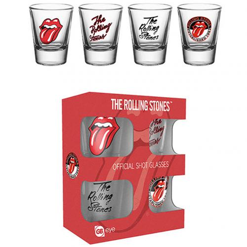 The Rolling Stones 4pk Shot Glass Set