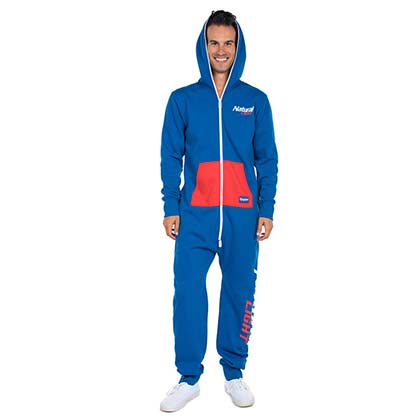 NATURAL LIGHT Men's Racer Jumpsuit Union One Piece Suit