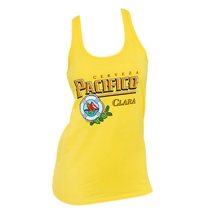 PACIFICO Logo Ladies Yellow Tank Top