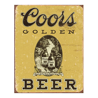 COORS Golden Beer Vintage Tin Sign