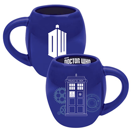 DOCTOR WHO Oval Blue Coffee Mug