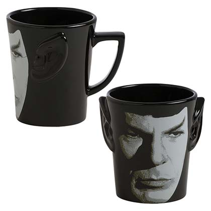 STAR TREK Spock Ears Black Coffee Mug