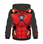 MARVEL COMICS Iron Man Men's Sublimation Full Length Zipper Hoodie, Small, Multi-colour
