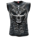 Skull Armour - Allover Sleeveless T-Shirt Black