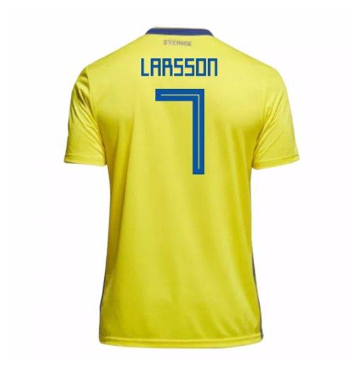 super popular d1ad3 4fbe9 2018-19 Sweden Home Shirt (Larsson 7) - Kids