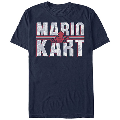 NINTENDO Mario Kart Text Blue T-Shirt