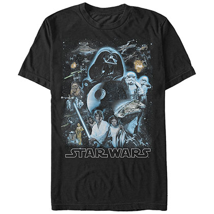 STAR WARS Galaxy Of Stars Black T-Shirt