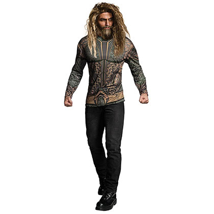 AQUAMAN Movie Long Sleeve Men's Costume T-Shirt