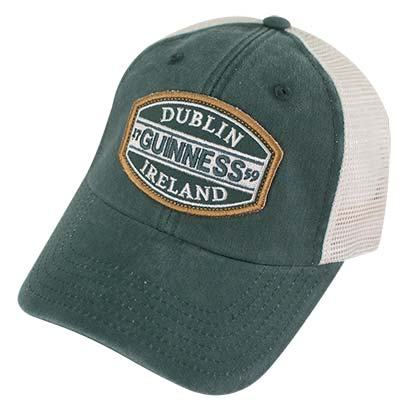 GUINNESS Dublin Ireland Green Mesh Mens Trucker Hat