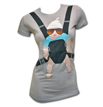 The Hangover Baby Bjorn Grey Juniors Graphic TShirt