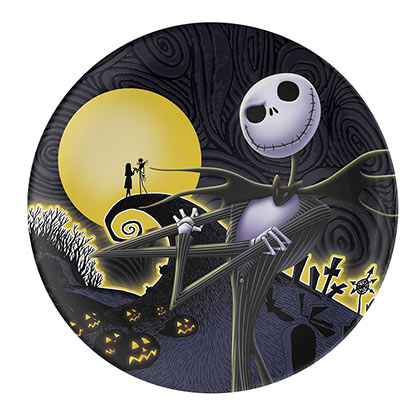 NIGHTMARE BEFORE CHRISTMAS Melamine Plastic Dinner Plate