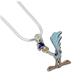 Looney Tunes Pendant & Necklace Road Runner (silver plated)