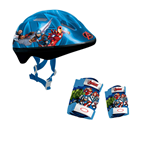 MARVEL COMICS Avengers Assemble Kid's Activities Protection Set with Helmet/Knee Pads/Elbow Pads, Multi-colour