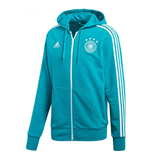 2018-2019 Germany Adidas 3S Full Zip Hoody (Green)