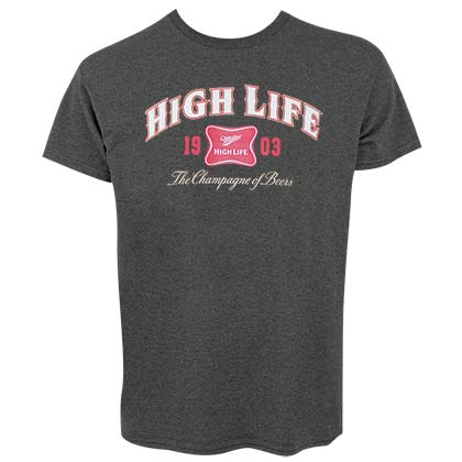 MILLER High Life 1903 Logo Mens Dark Grey T-Shirt