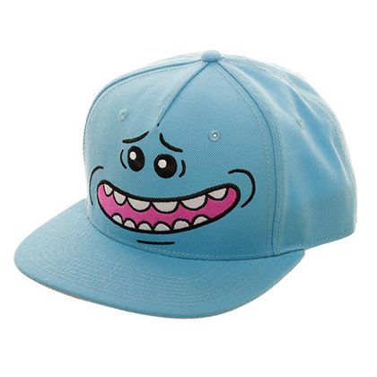 Rick And Morty Mr. Meeseeks Smile Snapback Blue Hat