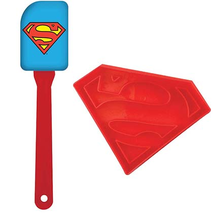 SUPERMAN Spatula and Cookie Cutter Combo Set