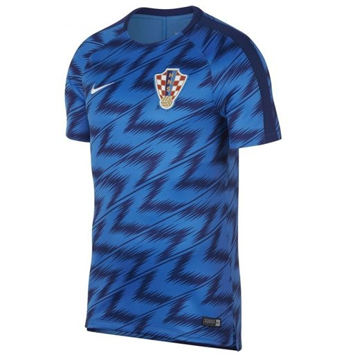 2018-2019 Croatia Nike Pre-Match Training Shirt (Blue)