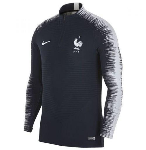 2018-2019 France Nike Strike Vapor Knit Drill Top (Obsidian)