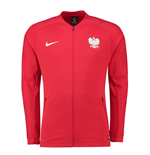 2018-2019 Poland Nike Anthem Jacket (Red)
