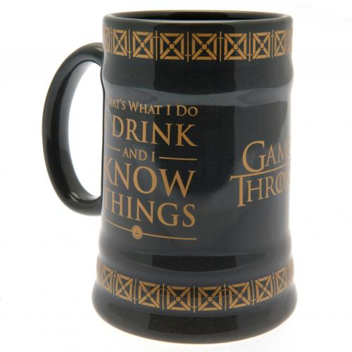Game Of Thrones Stein Mug Drink & Know Things