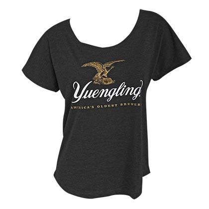 YUENGLING Logo Loose Fit Women's Charcoal Gray T-Shirt