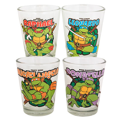 TEENAGE MUTANT NINJA TURTLES Shot Glass Set Of 4