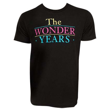 The WONDER YEARS Classic Logo Men's Black T-Shirt