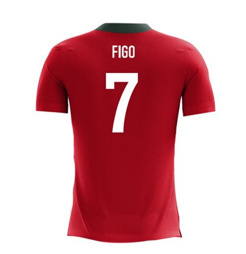 2018-2019 Portugal Airo Concept Home Shirt (Figo 7)