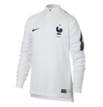 2018-2019 France Nike Training Drill Top (White) - Kids